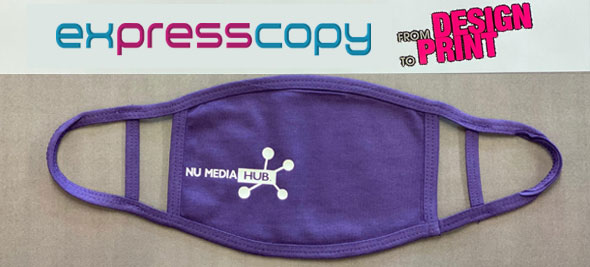 mask banner purple