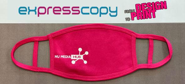 mask banner pink
